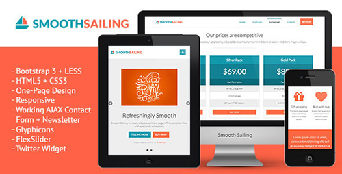 ThemeForest - Smooth Sailing - One-Page Bootstrap 3 Landing Page - RIP