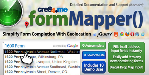 CodeCanyon - FormMapper Address Autocomplete with Geolocation - RIP
