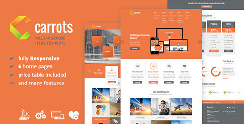 ThemeForest - Carrots - Multipurpose Responsive HTML Template - RIP