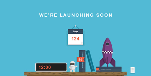 ThemeForest - RocketScience - Illustrated Coming Soon Template - RIP